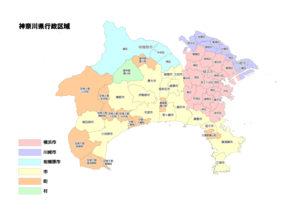 神奈川県マップ